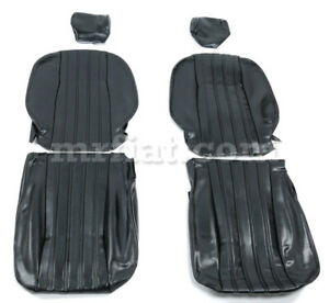 Fiat 124 Spider Black Seat Covers 79 82 New