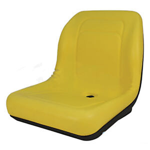 New High Back Style Yellow John Deere Compact Tractor Seat Models 4200 4710
