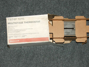 New Honeywell T874f 1015 Multistage Thermostat Furnace Boiler Control