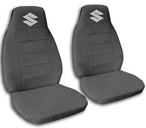 Front Car Seat Covers Charcoal With S Design Fits Suzuki Samurai more Avbl