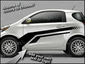 2012 And Up Scion Iq Custom Vinyl Decal Graphics Racing Side Stripes 1
