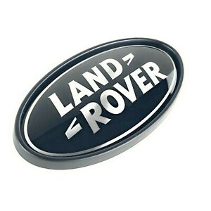 Range Rover Sport Supercharged Tailgate Emblem Black Land Rover Oval Logo Badge