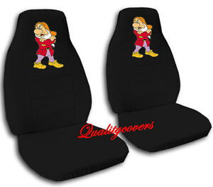 Cute Set Grumpy Front Car Seat Covers Black Other Colors Back Available