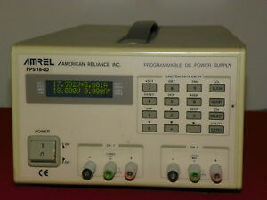 Amrel Pps 18 4d Dual Output Programmable Dc Power Supply