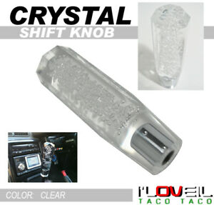 Universal 150mm Transparent Manual Clear Bubble Shift Knob Diamond Crystal Look