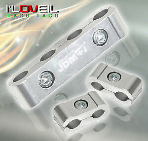Jdm Light Weight Cnc Aluminum Spark Plug Wires Spacers Silver 4 Cylinder Engines