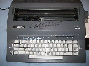 Denny Hamlin 11 Autographed Smith Corona Sc110 Electric Typewriter W coa