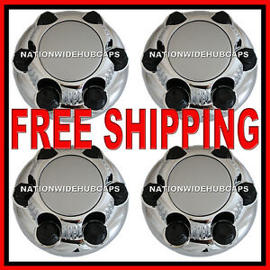 Set Of 4 Chevy Gmc 6 Lug 16 17 Chrome Wheel Rim Center Hub Caps Nut Covers S