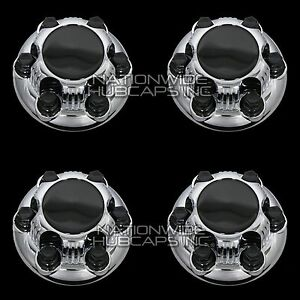 4 New Chevy Gmc 1500 6 Lug 16 17 Chrome Wheel Center Hub Caps Rim Hole Covers