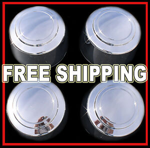 Setof4 Ford Truck Van 8lug 16 Chrome Wheel Center Hub Caps Nut Covers Alloy Rim