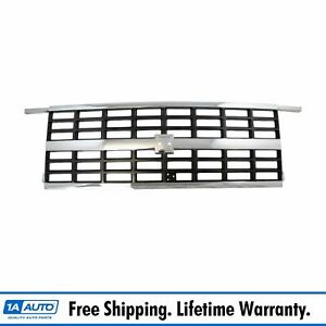 Grille Grill Chrome And Argent For 89 91 Blazer Suburban R v W Dual Headlights