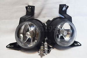 Glass Driving Fog Lights Lamps W 2 Light Bulbs One Pair For 2001 2005 Beetle