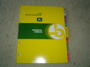 John Deere 1380 Mower Conditioner Technical Service Shop Manual