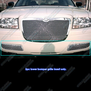 For 2005 2010 Chrysler 300 Stainless Steel Bumper 2 5mm Mesh Grille Grill Insert