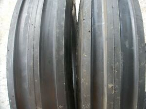 Two 650x16 650 16 6 50 16 Farmall 756 3 Rib Front Tractor Tires With Tubes