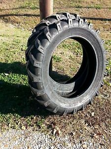 Two 8 3x24 8 3 24 Belarus 254 Six Ply Tractor Tires With Tubes
