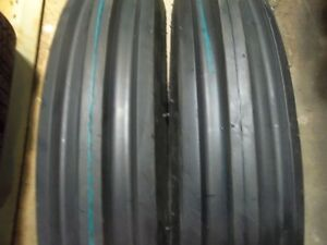 Kubota L285 Tractor Tires Two 11 2x24 Two 500x15 3 Rib W tubes