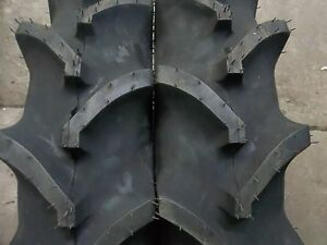 Two 7x16 7 16 Terramite Backhoe Deere Kubota 4 Ply R 1 Bar Lug Tractor Tires