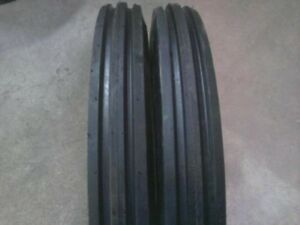 Two 400x19 4 00 19 400 19 F2 Triple Rib Ford 2n 9n Front Tractor Tires