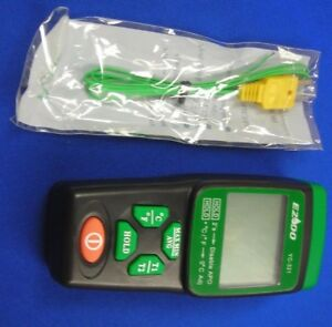 Thermometer 2 Channel K Type auto Power Off dis function data Hold accessories