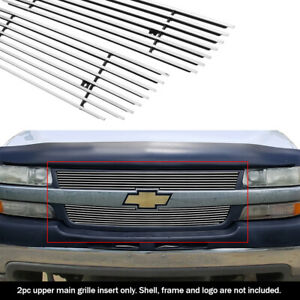 Fits 2001 2002 Chevy Silverado 2500hd 3500 Upper Billet Grille Insert