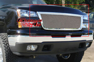 Fits 2006 Chevy Silverado 1500 05 06 2500 3500 Stainless Mesh Grille Insert