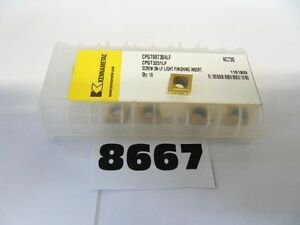 10 Pcs Cpgt 3251lf Kc730 Kennametal Carbide Inserts 4 12 12