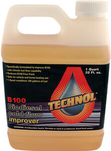 Lot Of 6 X Quart Of Technol B100 Biodiesel Cold Flow Improver Anti gel Additive