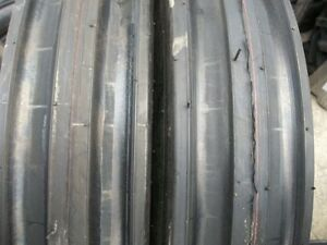 Two 11 00x16 1100x16 11 00 16 Deere Ford Ten Ply 3 Rib Tractor Tires W tubes