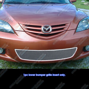 Fits 2004 2006 Mazda Mazda3 Hatchback Stainless Steel Mesh Grille Grill Insert