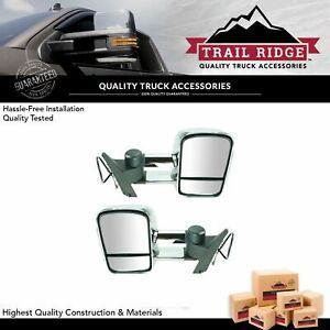 Trail Ridge Towing Mirror Manual Turn Signal Chrome Pair For Silverado Sierra