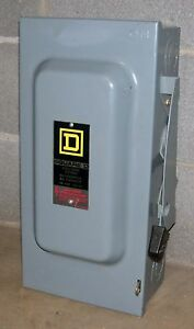 Square D 100 Amp Safety Switch Cat D323n 3 Pole 240 Vac Fusible
