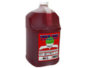 Snow Cone Shaved Ice Syrup 1 Cs 4 Gal 72002 Cherry Flavor Ready To Use