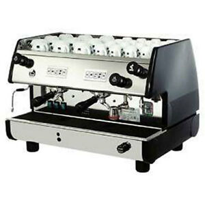 La Pavoni Commercial Espresso Machine Maker Bar t 2v b Black 2 Group Volumetric