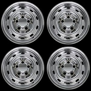 4 Fit Dodge Ram 1500 2004 12 Chrome 17 Wheel Skins Hub Caps 10 Slots Rim Covers