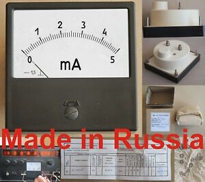 0 5ma Dc 1 5 Russian M42300 Ammeter Current Meter Amp Analog Panel Meter
