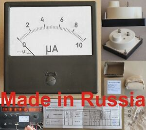 0 10mka Dc 1 5 M42300 x Ammeter Current Meter Amp Analog Panel Gauge Russian