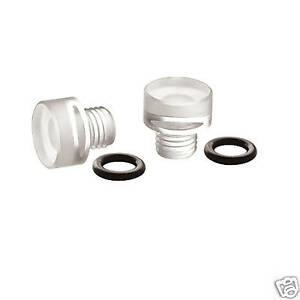 26 113 Holley Clear Fuel Bowl Sight Plugs With O Rings Pair Carb Carburetor