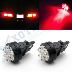 Bright Red 3157 3156 12 Smd Tail Lights Led Bulbs For Gmc Canyon Durango Sierra