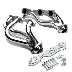 Chevy Gmc Suv Truck S10 4 3 V6 4wd Air Injection Stainless Exhaust Chrome Header