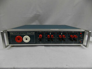 Valhalla Scientific 2790a Systems Interface Panel 10 100 Amps