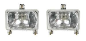 1693943m1 Pair Of Headlights W bulb For Massey Ferguson Tractor Models 3050