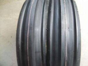 Two 400x8 4 00x8 400 8 Front 3 Rib Cub Cadet Easy Steer Tractor Tires W tubes