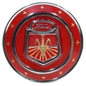 Naa16600c Red Hood Emblem For Ford Tractor Naa