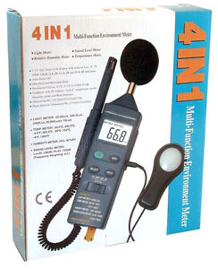 Cem Dt8820 4 in 1 Industrial Thermometer Light Humidity Sound Noise Meter Tester