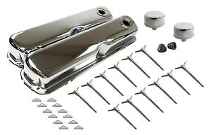 Chrome Dress Up Kit Sb Ford 289 302 351w Valve Covers Mustang 5 0l Kit Complete