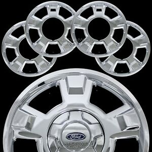 4 Chrome 2009 2014 Ford F150 17 Wheel Skins Hub Caps Full Aluminum Rim Covers