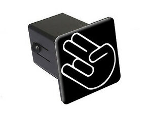 Shocker Hand Gesture Funny 2 Tow Trailer Hitch Cover Plug Insert