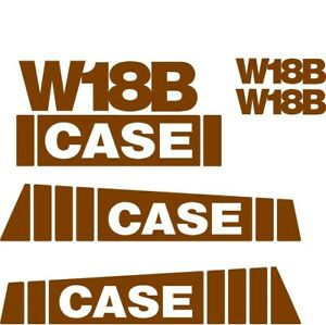Decal Set For Case Wheel Loader W18b
