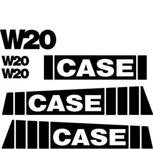 Decal Set For Case Wheel Loader W20